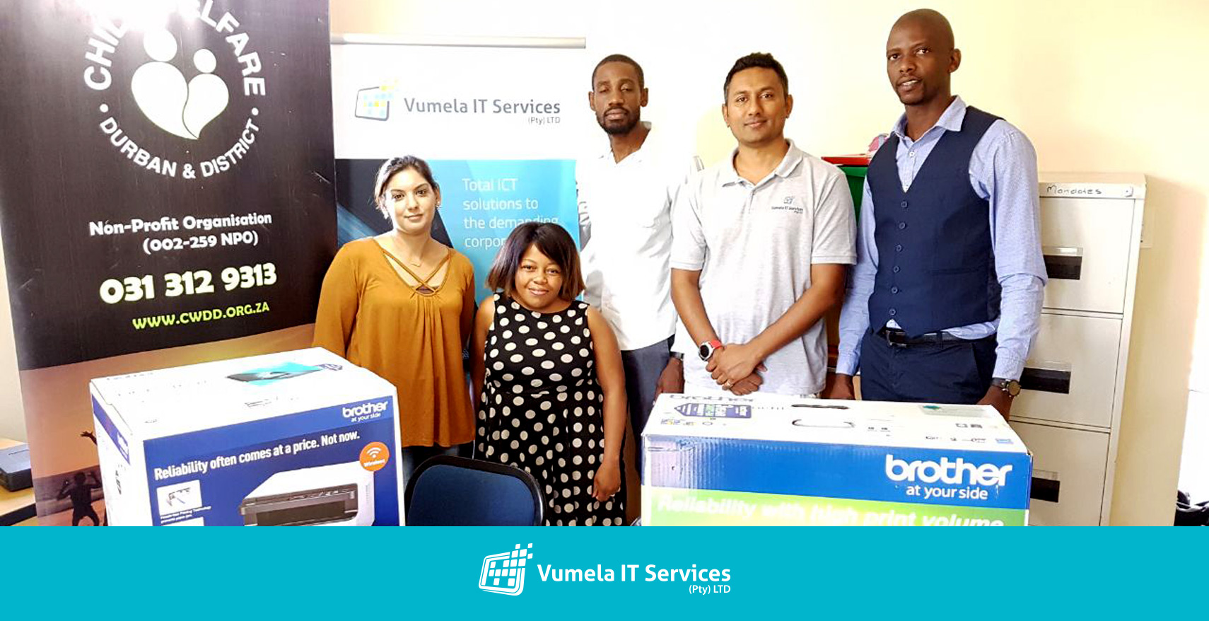 Vumela IT Services donates office equipment